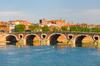 Vue de Toulouse depuis les quais de la Garonne