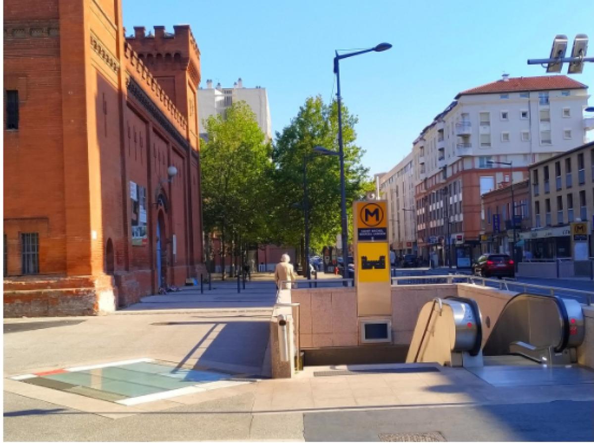 Immobilier neuf Toulouse Saint-Michel – vue sur la station de métro Saint-Michel