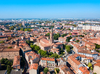 Vue aérienne de Toulouse et de la basilique Saint Sernin