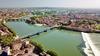 Vue aérienne de la Garonne à Toulouse