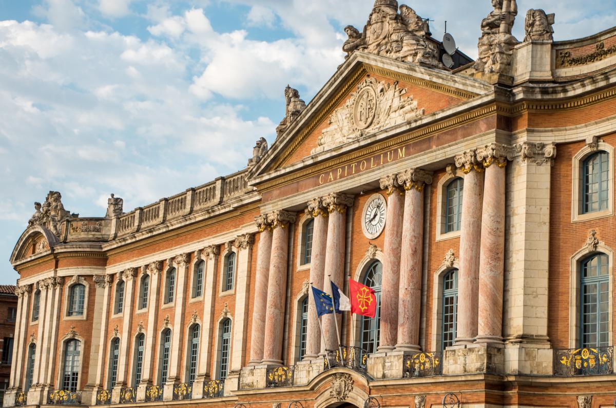 Façade du Capitole à Toulouse