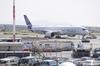 Avion A350 d'Airbus sur le tarmac d'un aéroport
