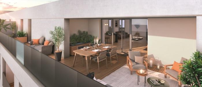 Appartements neufs Les Amidonniers référence 5871 : aperçu n°2