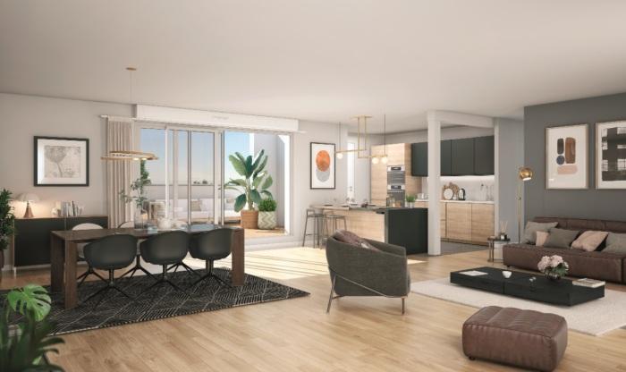 Appartements neufs Les Amidonniers référence 5871 : aperçu n°1