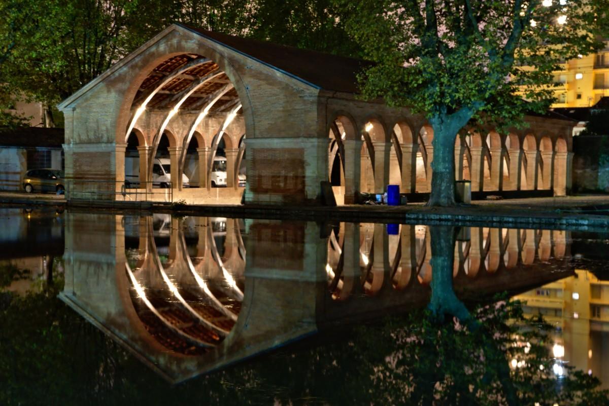 VNF Canal du Midi – La cale couverte de Radoub de nuit